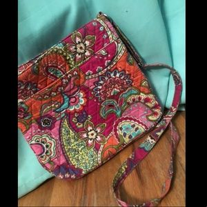 vera bradley pink swirls crossbody bag